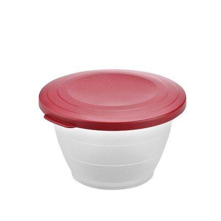 Westmark Емкость для салата Олимпия с крышкой (0.6 л), 13 см, красная 2410221R Westmark westmark емкость для салата олимпия с крышкой 2 5 л 21 см красная 2414221r westmark