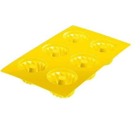 Westmark Форма для 6-ти маффинов, желтая 3016227Y Westmark westmark набор форм для маффинов 6 шт 7 см красный 30142260 westmark