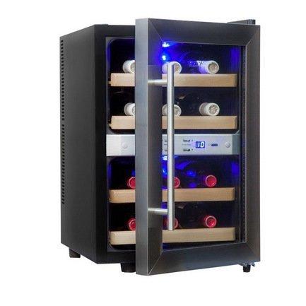 Cold Vine Винный шкаф (33 л), на 12 бутылок, термоэлектрический, серый C12-TSF2 Cold Vine cold vine винный шкаф 33 л на 12 бутылок термоэлектрический серый c12 tsf2 cold vine
