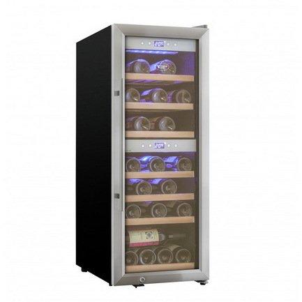 лучшая цена Cold Vine Винный шкаф (70 л), на 24 бутылки, серый C38-KSF2 Cold Vine