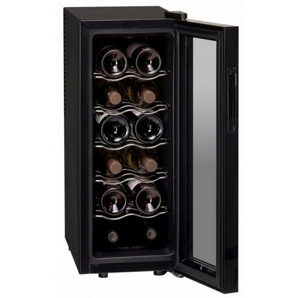 Dunavox Винный шкаф (33 л), на 12 бутылок, черный DAT-12.33C Dunavox винный шкаф dunavox dat 6 16 c