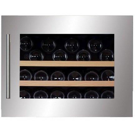Винный шкаф (65 л), на 28 бутылок, серый DAB-28.65SS Dunavox винный шкаф 215 л на 89 бутылок черный dab 89 215db dunavox