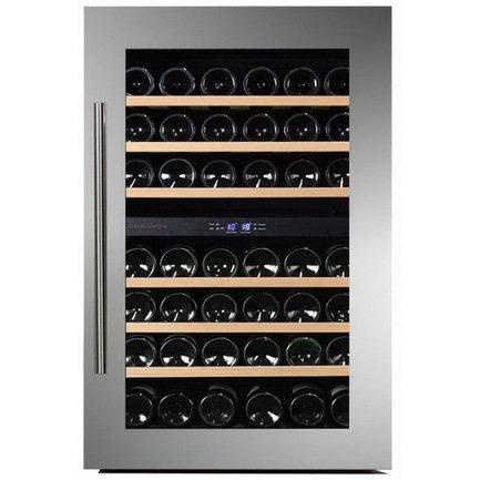 Винный шкаф (117 л), на 42 бутылки, серый DAB-42.117DSS Dunavox винный шкаф 215 л на 89 бутылок черный dab 89 215db dunavox