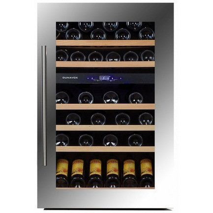 Винный шкаф (146 л), на 57 бутылок, серый DX-57.146DSK Dunavox цена и фото
