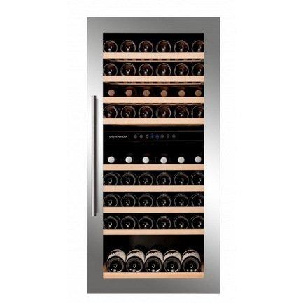 Винный шкаф (215 л), на 89 бутылок, серый DAB-89.215DSS Dunavox винный шкаф 215 л на 89 бутылок черный dab 89 215db dunavox