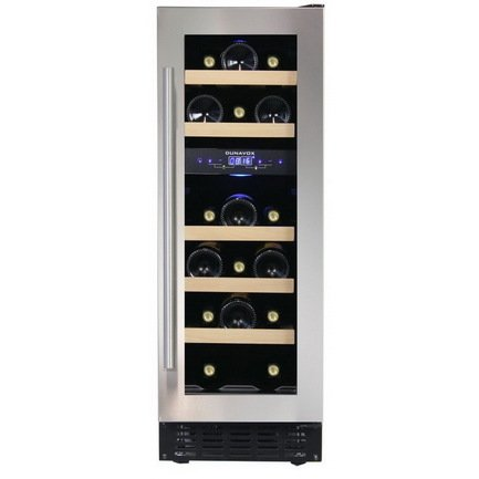 Винный шкаф (57 л), на 17 бутылок, серый DAU-17.57DSS Dunavox цена и фото