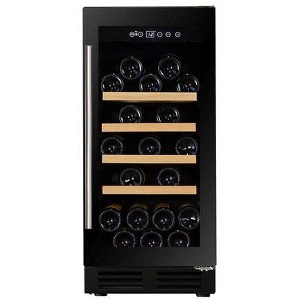 Dunavox Винный шкаф (81 л), на 32 бутылки, монотемпературный, черный DAU-32.81B Dunavox винный шкаф dunavox dat 6 16 c