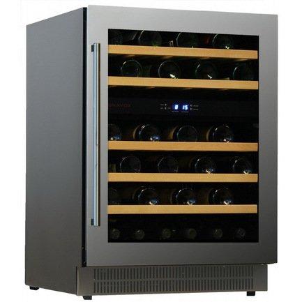 Винный шкаф (146 л), на 46 бутылок, мультитемпературный, серый DAU-46.146DSS Dunavox цена и фото