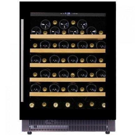 Винный шкаф (146 л), на 52 бутылки, монотемпературный, черный DAU-52.146B Dunavox цена и фото