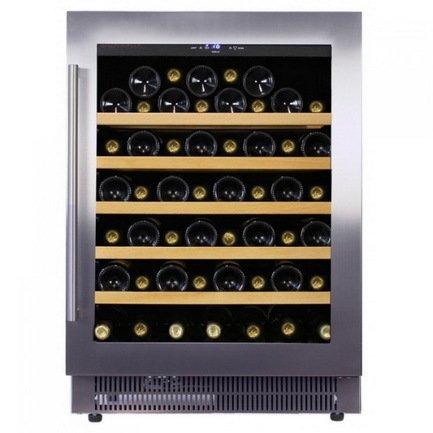 Винный шкаф (146 л), на 52 бутылки, монотемпературный, серый DAU-52.146SS Dunavox цена и фото