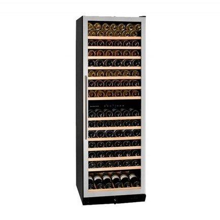Винный шкаф (428 л), на 166 бутылок, мультитемпературный, серый DX-166.428SDSK Dunavox цена и фото