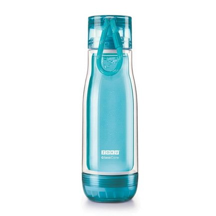 Zoku Бутылка Glass Core Bottle (480 мл), голубая вело бутылка polar bottle 1056