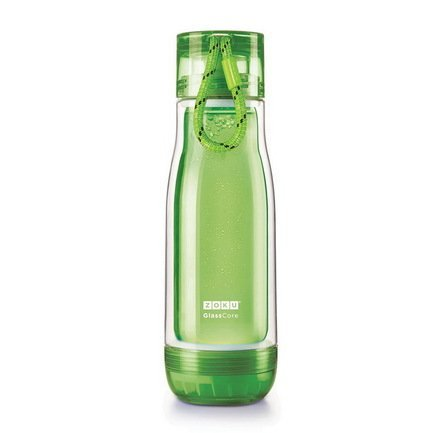Zoku Бутылка Glass Core Bottle (480 мл), зеленая вело бутылка polar bottle 1056