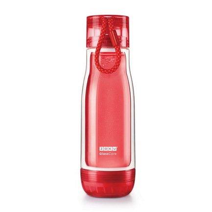 Zoku Бутылка Glass Core Bottle (480 мл), красная ZK128-RD Zoku wholesale 50pcs tiny glass bottles cork empty cute transparent glass bottle jars vials 47 70 33mm 80ml