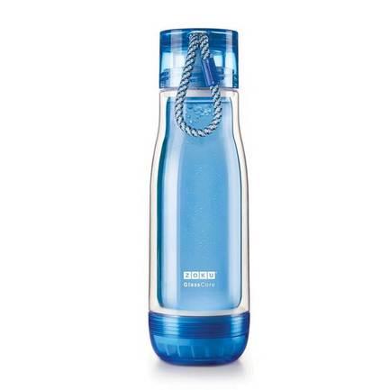 Zoku Бутылка Glass Core Bottle (480 мл), синяя ZK128-BL Zoku wholesale 50pcs tiny glass bottles cork empty cute transparent glass bottle jars vials 47 70 33mm 80ml