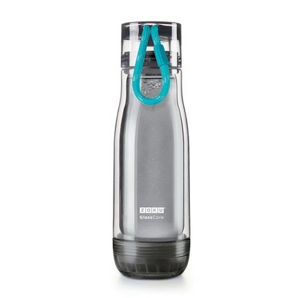 Zoku Бутылка Active Glass Core Bottle (480 мл), голубая zoku бутылка active glass core bottle 480 мл синяя