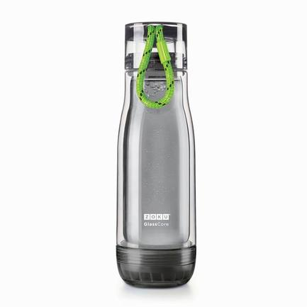 Zoku Бутылка Active Glass Core Bottle (480 мл), зеленая zoku бутылка active glass core bottle 480 мл синяя