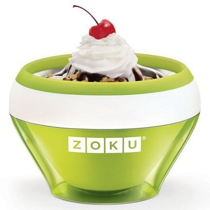 Zoku Мороженица Ice Cream Maker (150 мл), 13.8х9.4 см, зеленая ZK120-GN Zoku ice cream maker kenwood 0wim280002 im280 ice cream machine hard scoop ice cream machine