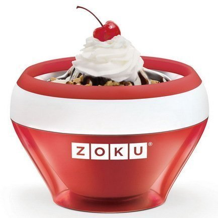 Zoku Мороженица Ice Cream Maker (150 мл), 13.8х9.4 см, красная ZK120-RD Zoku korea ice cream taiyaki machine digital ice cream taiyaki making machine taiyaki waffle maker machine