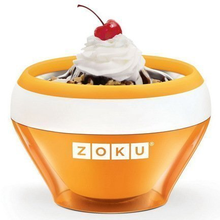 Zoku Мороженица Ice Cream Maker (150 мл), 13.8х9.4 см, оранжевая ZK120-OR Zoku ice cream maker kenwood 0wim280002 im280 ice cream machine hard scoop ice cream machine