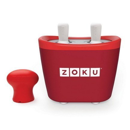 Zoku Набор для приготовления мороженого Duo Quick Pop Maker, красный ZK107-RD Zoku zoku мороженица ice cream maker 150 мл 13 8х9 4 см красная zk120 rd zoku
