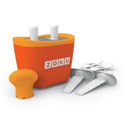Zoku Набор для приготовления мороженого Duo Quick Pop Maker, оранжевый ZK107-OR Zoku мороженица zoku ice cream maker zk120 bl