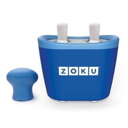 Zoku Набор для приготовления мороженого Duo Quick Pop Maker, синий ZK107-BL Zoku zoku мороженица ice cream maker 150 мл 13 8х9 4 см оранжевая zk120 or zoku