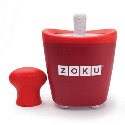 Zoku Набор для мороженого Single Quick Pop Maker, красный ZK110-RD Zoku zoku мороженица ice cream maker 150 мл 13 8х9 4 см красная zk120 rd zoku