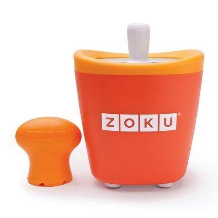 Zoku Набор для мороженого Single Quick Pop Maker, оранжевый ZK110-OR Zoku мороженица zoku ice cream maker zk120 bl