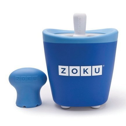Zoku Набор для приготовления мороженого Single Quick Pop Maker, синий ZK110-BL Zoku zoku мороженица ice cream maker 150 мл 13 8х9 4 см оранжевая zk120 or zoku