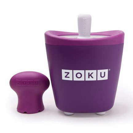 Zoku Набор для мороженого Single Quick Pop Maker, фиолетовый ZK110-PU Zoku набор для приготовления мороженого zoku single quick pop maker zk110 gn