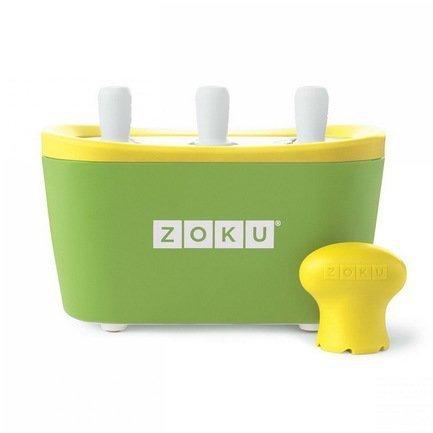 Zoku Набор для мороженого Triple Quick Pop Maker, зеленый ZK101-GN Zoku мороженица zoku ice cream maker zk120 bl