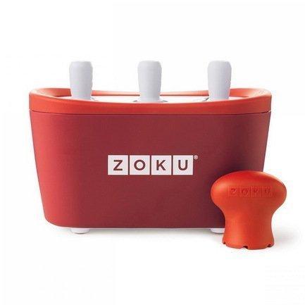 Zoku Набор для мороженого Triple Quick Pop Maker, красный ZK101-RD Zoku zoku мороженица ice cream maker 150 мл 13 8х9 4 см красная zk120 rd zoku