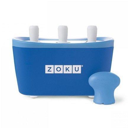 Zoku Набор для приготовления мороженого Triple Quick Pop Maker, синий ZK101-BL Zoku мороженица zoku ice cream maker zk120 bl