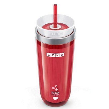 Zoku Стакан для охлаждения напитков (325 мл), 9.2х21 см, красный ZK121-RD Zoku zoku мороженица ice cream maker 150 мл 13 8х9 4 см красная zk120 rd zoku