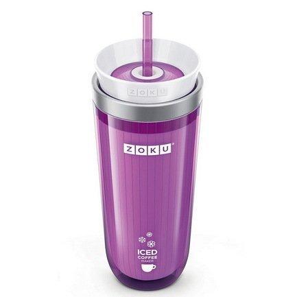 Zoku Стакан для охлаждения напитков (325 мл), 9.2х21 см, фиолетовый ZK121-PU Zoku zoku мороженица ice cream maker 150 мл 13 8х9 4 см оранжевая zk120 or zoku