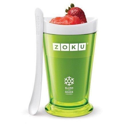 Zoku Форма для десертов Sluch & Shake (240мл), 10х16.6см, зеленая ZK113-GN Zoku zoku мороженица ice cream maker 150 мл 13 8х9 4 см оранжевая zk120 or zoku