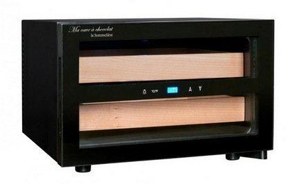Фото - La Sommeliere Шкаф для хранения шоколада (8-18°C), 25 л, 2 деревянных ящика CAC01 La Sommeliere trixie стойка с мисками trixie для собак 2х1 8 л