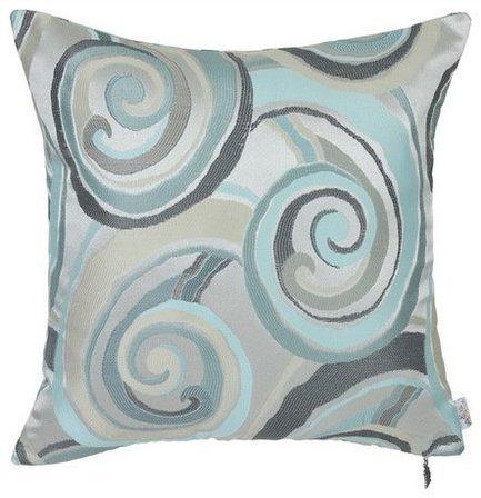 Apolena Чехол для декоративной подушки Минерал колор, 43х43 см, бирюзовый apolena