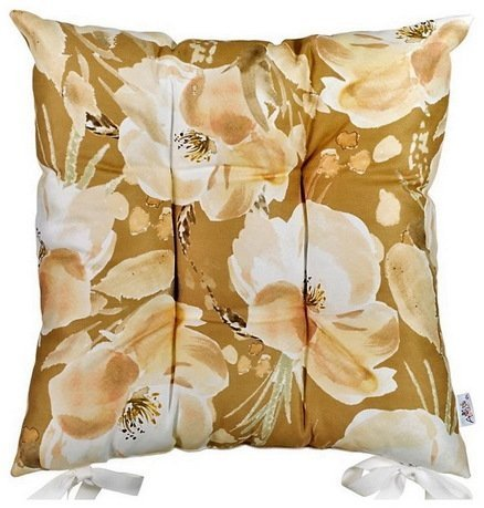 Apolena Подушка на стул Сиена, 43х43 см, бежевая подушка на стул арти м райский сад