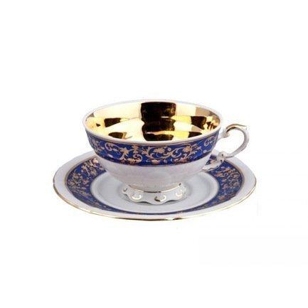 Rudolf Kampf Чашка низкая National Traditions (0.20 л) с блюдцем 07120425-1824k Rudolf Kampf rudolf kampf чашка чайная dali с блюдцем 46120425 1001 rudolf kampf