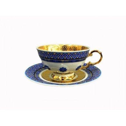 Чашка низкая National Traditions (0.20 л) с блюдцем 07120425-2085 Rudolf Kampf