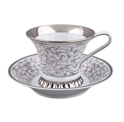 Чашка высокая Byzantine (0.20 л) с блюдцем 57120415-D936k Rudolf Kampf чашка с блюдцем страйп розовые 0 2 л