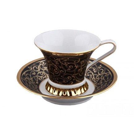 Чашка высокая Byzantine (0.20 л) с блюдцем 57120415-2244k Rudolf Kampf чашка с блюдцем страйп розовые 0 2 л