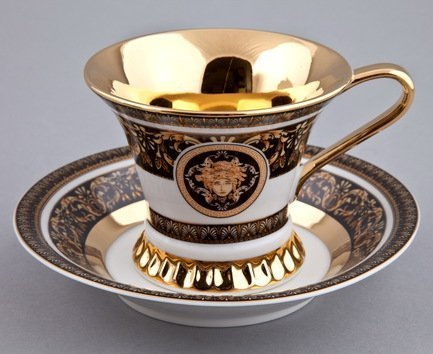 Rudolf Kampf Чашка высокая Byzantine (0.20 л) с блюдцем 57120415-2032k Rudolf Kampf rudolf kampf чашка чайная dali с блюдцем 46120425 1001 rudolf kampf