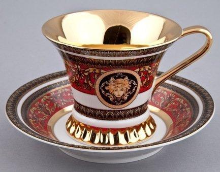 Rudolf Kampf Чашка высокая Byzantine (0.20 л) с блюдцем 57120415-2039k Rudolf Kampf rudolf kampf чашка чайная dali с блюдцем 46120425 1001 rudolf kampf