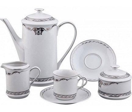 Rudolf Kampf Сервиз кофейный мокко, 15 пр. 02160713-2275k Rudolf Kampf rudolf kampf чашка чайная dali с блюдцем 46120425 1001 rudolf kampf