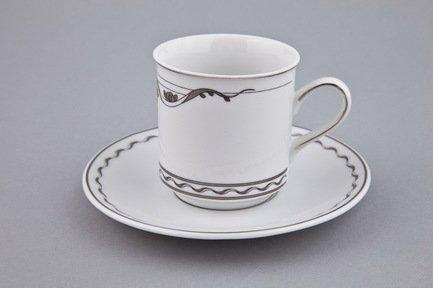 Чашка высокая Rose & Ribbons (0.20 л) с блюдцем 02120415-2275k Rudolf Kampf чашка с блюдцем страйп розовые 0 2 л