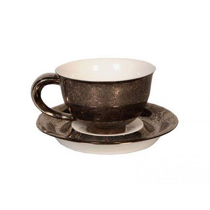Чашка Kelt (0.35 л) с блюдцем 52120411-2251k Rudolf Kampf чашка kelt 0 35 л с блюдцем 52120411 2251k rudolf kampf