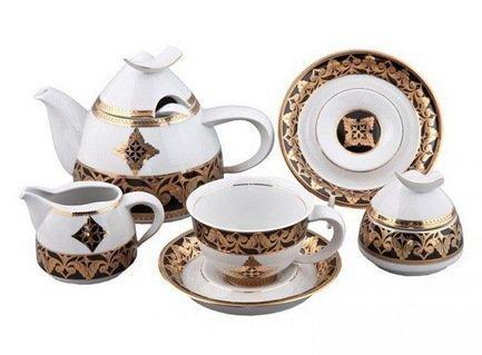 Rudolf Kampf Чайный сервиз на 6 персон, 15 пр. colombo чайный сервиз из 15 предметов на 6 персон флёр c2 ts 15 3701al